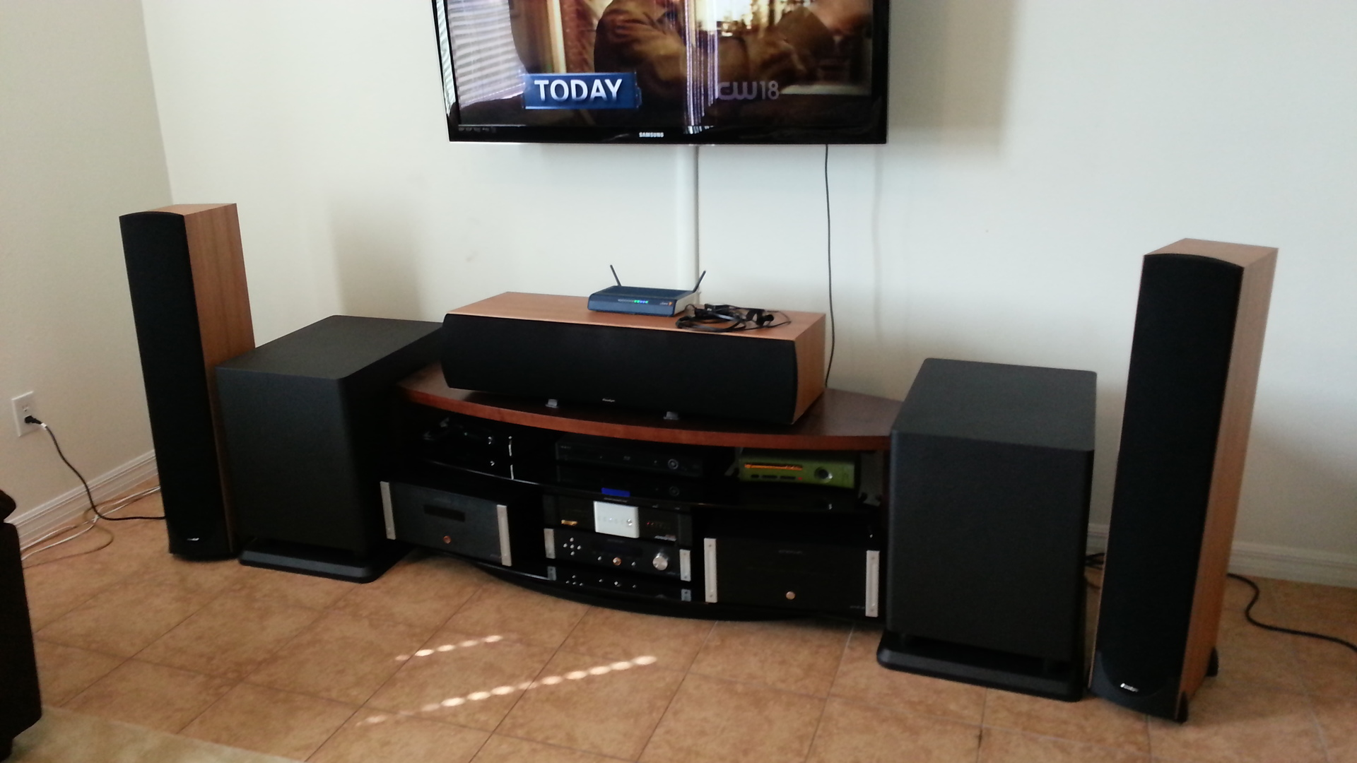 Manonfires Home Theater Gallery Ht Setup 8 Photos Wiring Audio Equipment New Got Rid Of Old Stand And Bought A Bdi Valera Cleaned Up The Amps Off Floor