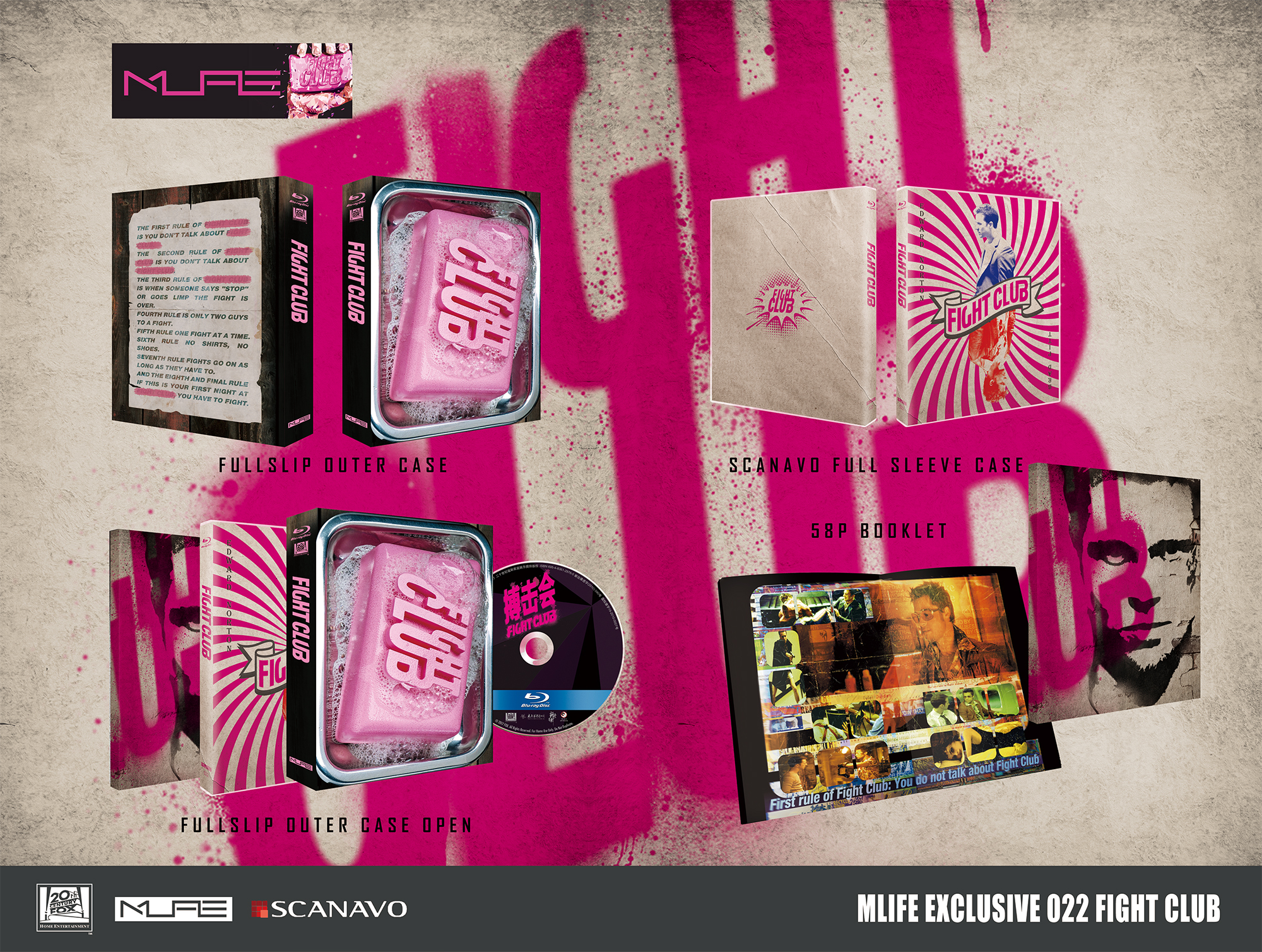 fight club blu ray  Fight Club Blu-ray: MLIFE Exclusive 022 | Limited to 300 Sets | 搏击 ...