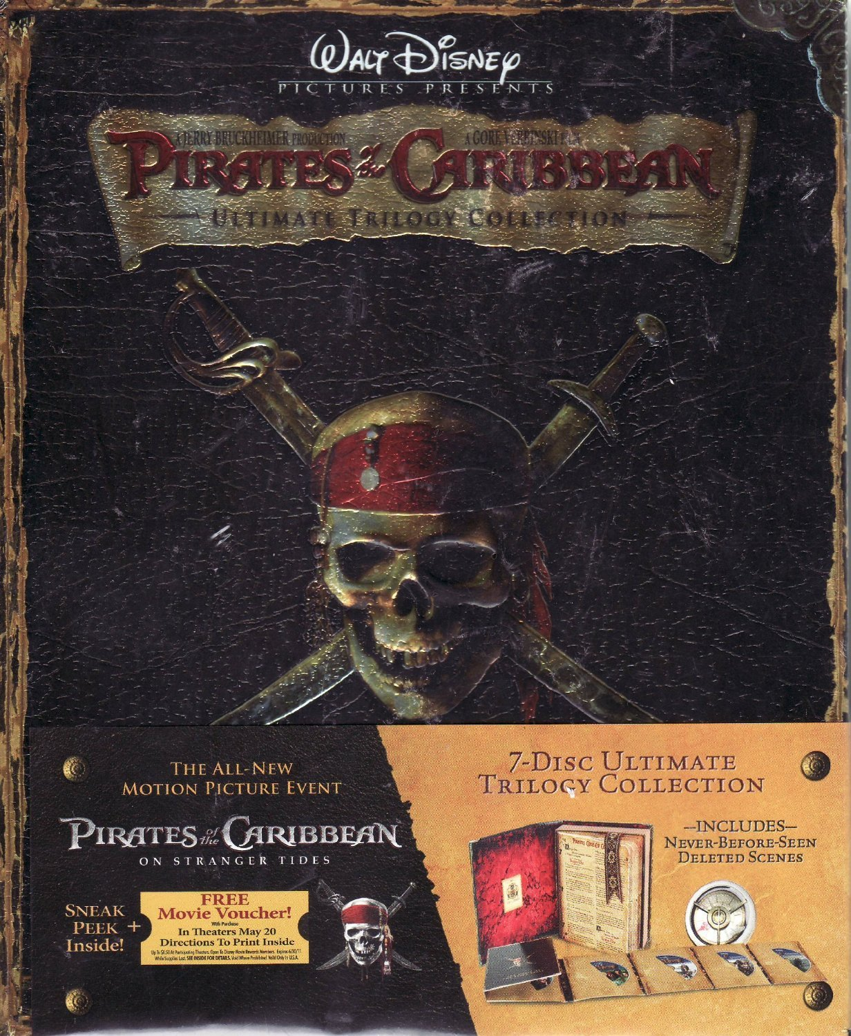Pirates Of The Caribbean Ultimate Trilogy Collection Blu Ray Curse