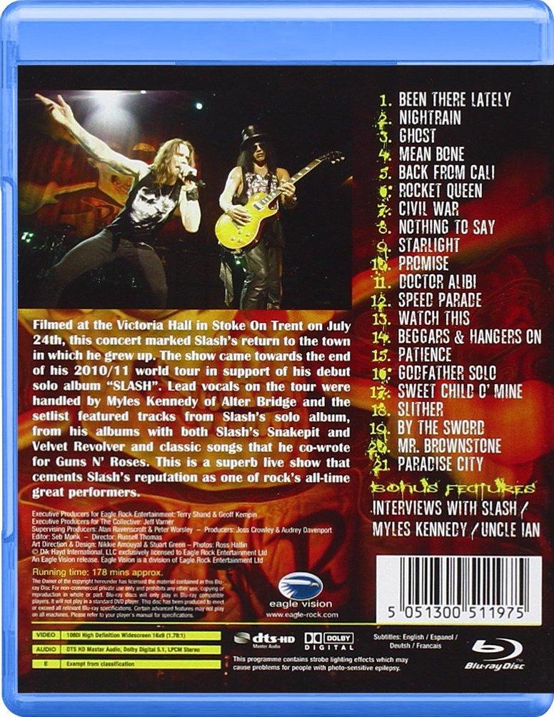 Slash Live: Made in Stoke 24/7/11 Blu-ray Release Date