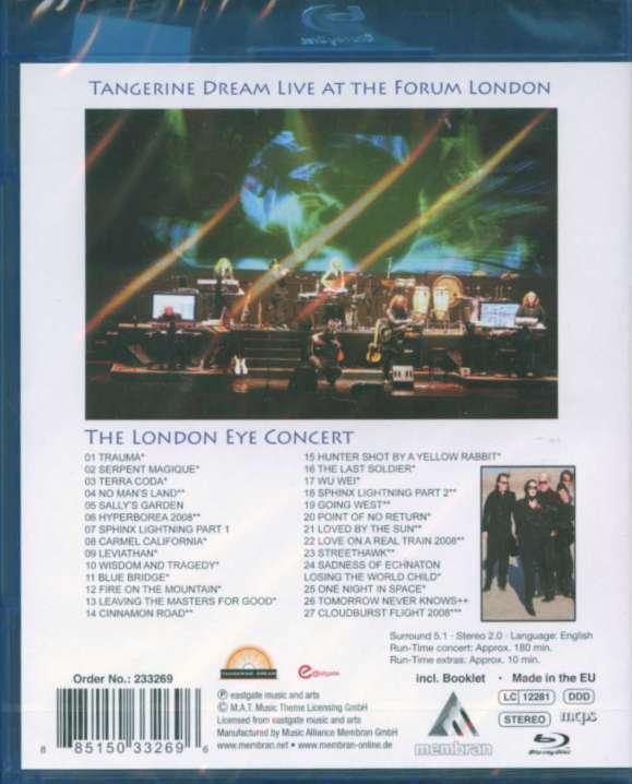 Tangerine Dream: The London Eye Concert Blu-ray (United Kingdom)