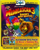 Madagascar 3: Europe's Most Wanted 3D Blu-ray
